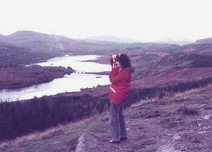 Kimberley Reeman researching Coronach in the northwest Highlands in Scotland.
